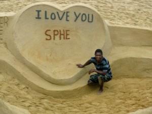 sand art heart Sibongwe