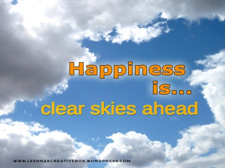Happiness is clear skies