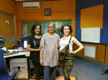 In studio Zakia Ahmed, Leenna Naidoo, KrsnaPriya @ LotusFM studios