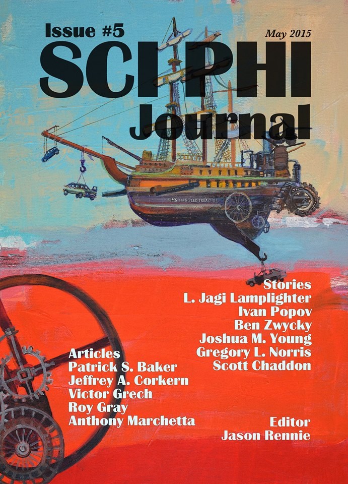 Book cover SciPhi Journal Issue 5 artist Cat Leonard
