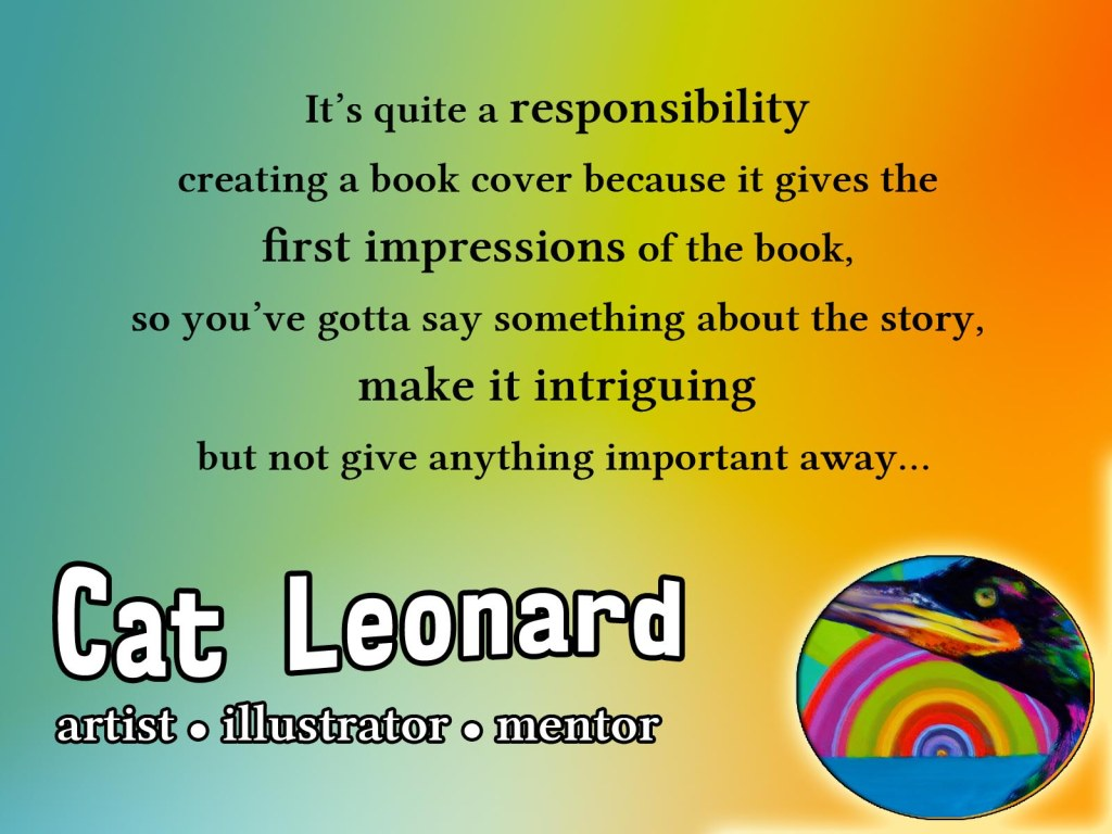 Quote Cat Leonard book cover creation