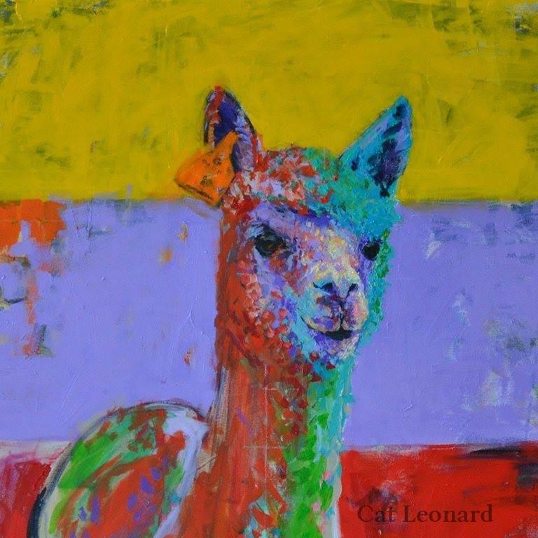 Llama by Cat Leonard catleonardart.com