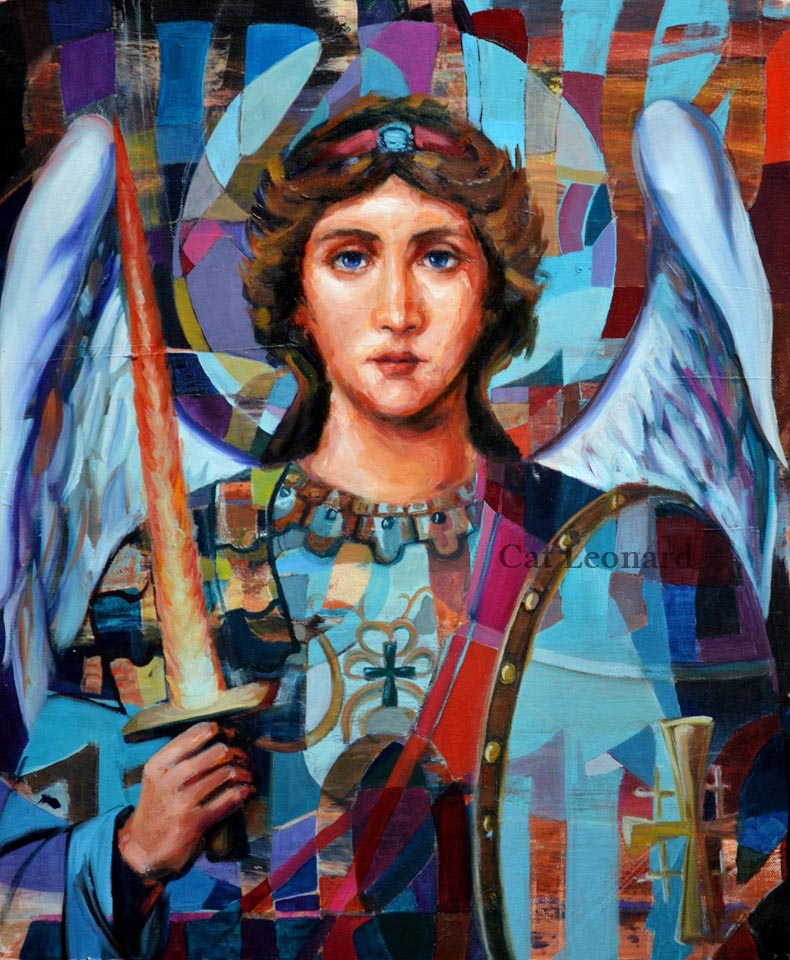 St Michael by Cat Leonard catleonardart.com