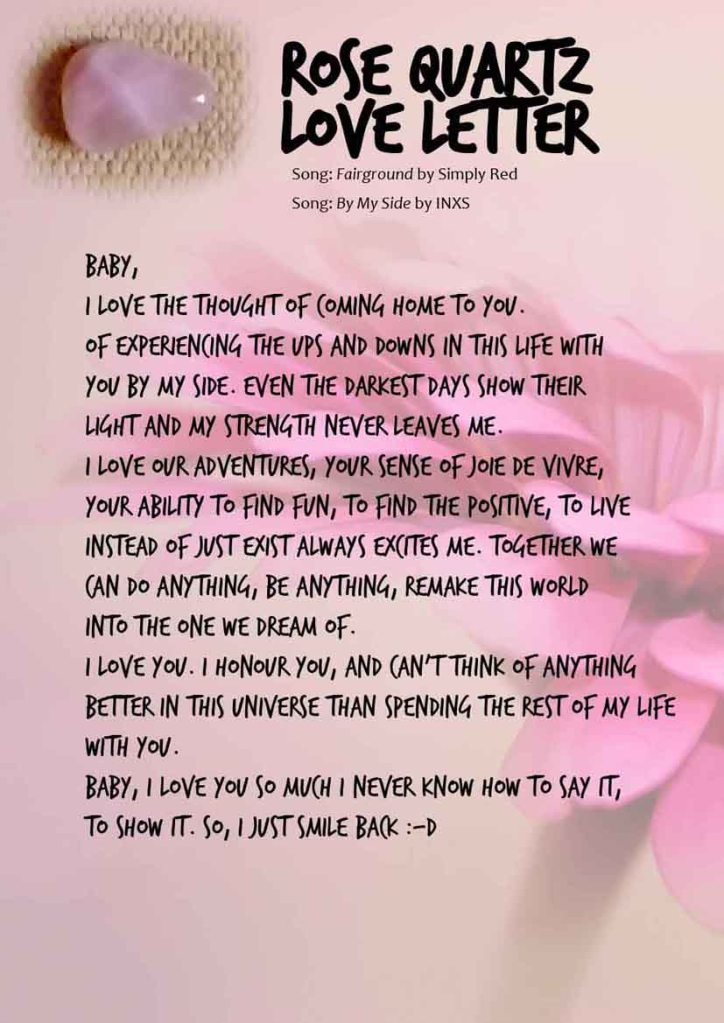 Rose Quartz channeled love letter