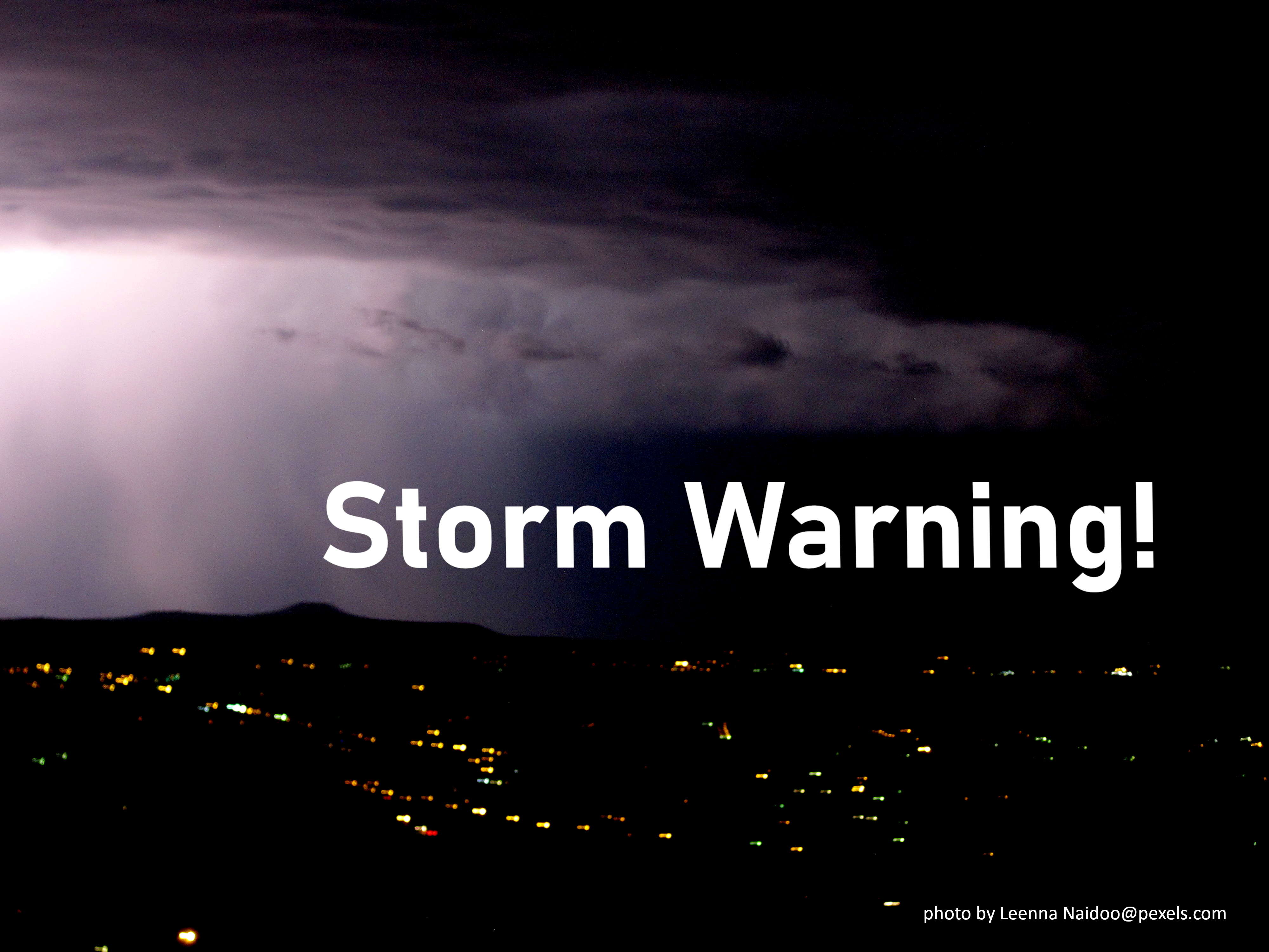 Storm Warning For November 2020